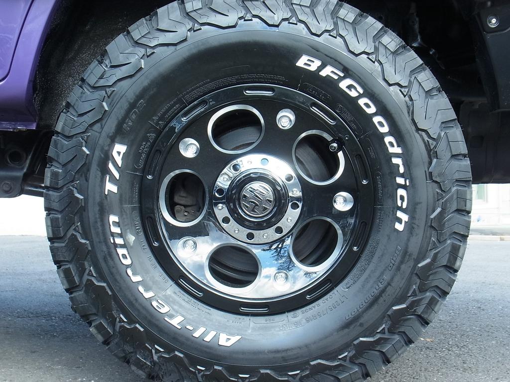 新品DEMON&BFG/ATタイヤ | トヨタ ランドクルーザープラド 2.7 TX リミテッド 4WD COLORBOMB パープル