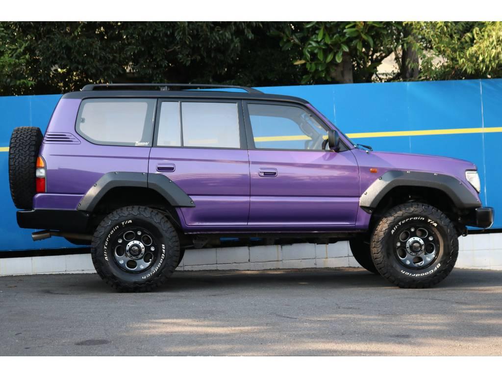 新品バネ&ショックで2インチリフトアップ | トヨタ ランドクルーザープラド 2.7 TX リミテッド 4WD COLORBOMB パープル