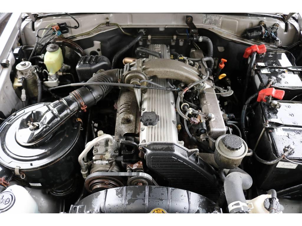 エンジンも快調!まだまだ末永くお乗り頂けます♪ | トヨタ ランドクルーザー70 4.2 ZX ディーゼル 4WD 低走行74 フェンダーミラー ブラV