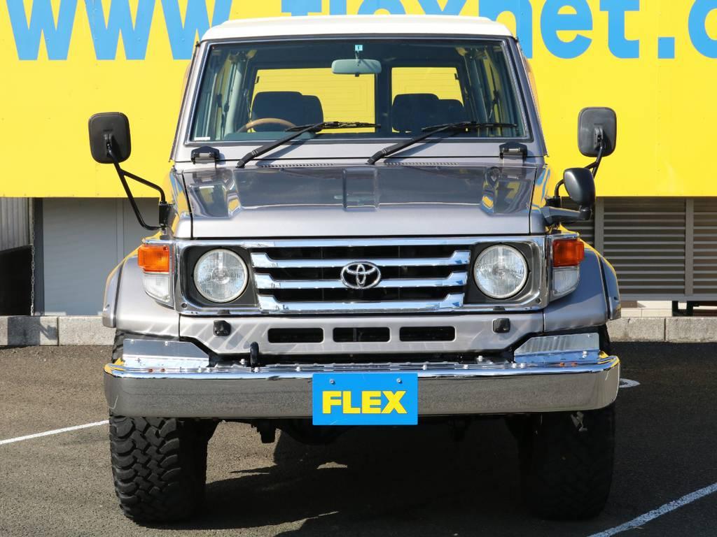 北海道~沖縄まで日本全国、遠方納車大歓迎です!現車確認が難しいお客様もご安心ください!お客様の目線に合わせ、お車のコンディション、装備品を細部までお伝えいたします!もちろん、ご自宅納車OKです! | トヨタ ランドクルーザー70 4.2 ZX ディーゼル 4WD 低走行74 フェンダーミラー ブラV