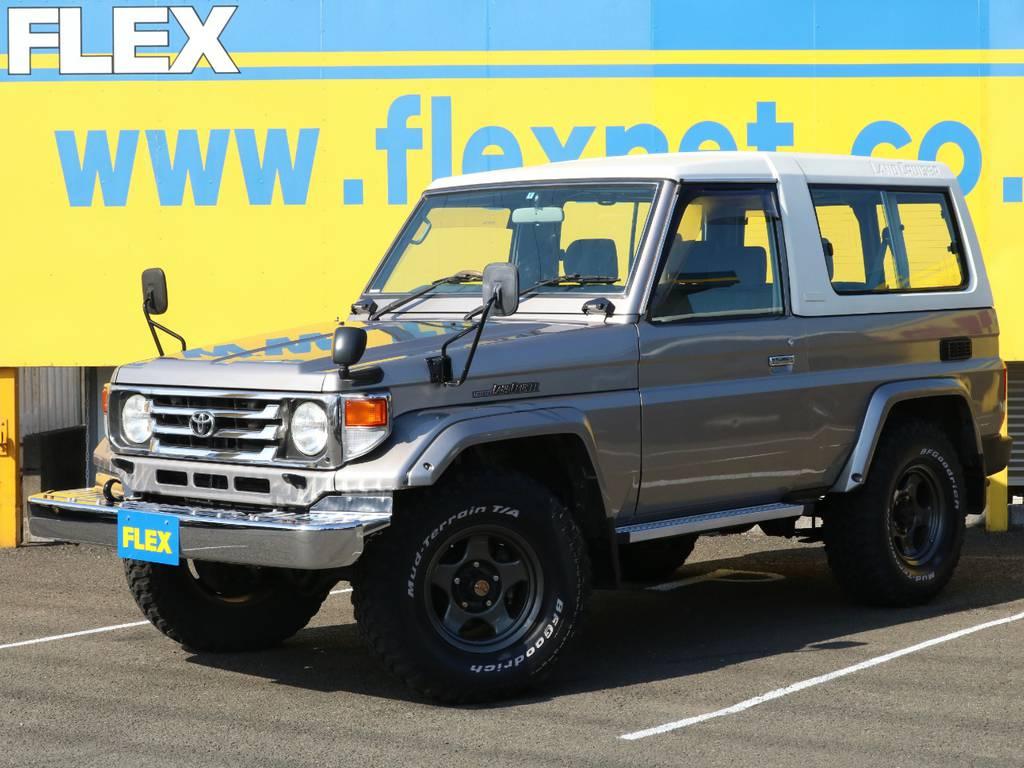 希少な74の入庫です!低走行8万キロ台に純正フェンダーミラー装着の好条件でバッチリ仕上がった1台です♪ | トヨタ ランドクルーザー70 4.2 ZX ディーゼル 4WD 低走行74 フェンダーミラー ブラV