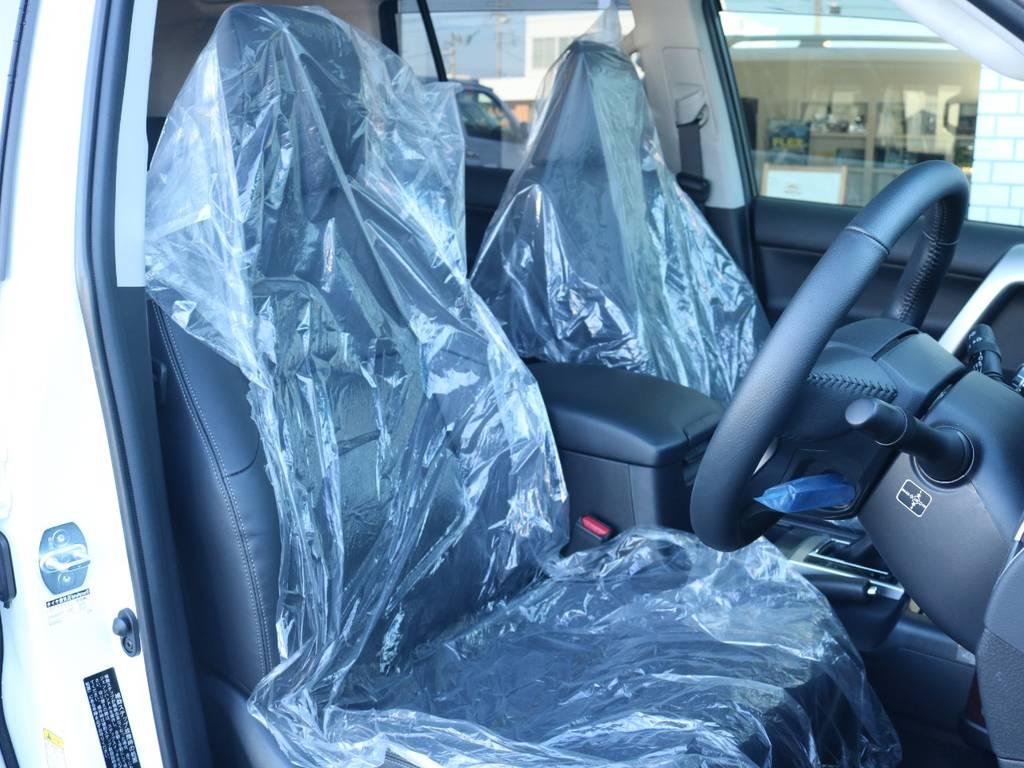 高級感のある本革シート!   トヨタ ランドクルーザープラド 2.7 TX Lパッケージ 4WD 新車未登録 モデリスタエアロ