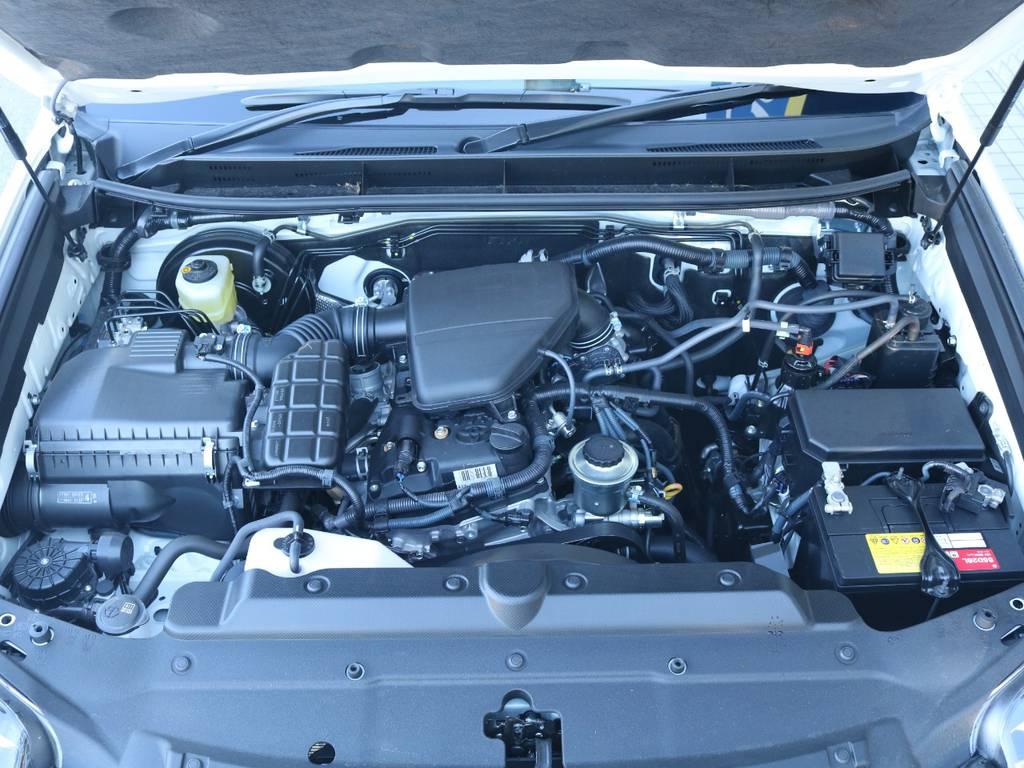 2.7Lガソリンエンジン搭載!4WDながら低排気量でコストを抑えつつアクティブに使えます!