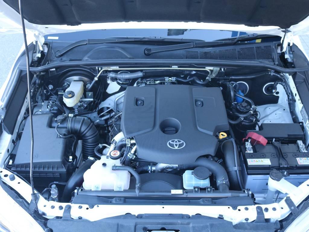 2.4Lディーゼルターボエンジン搭載!軽油ですので経済的です!