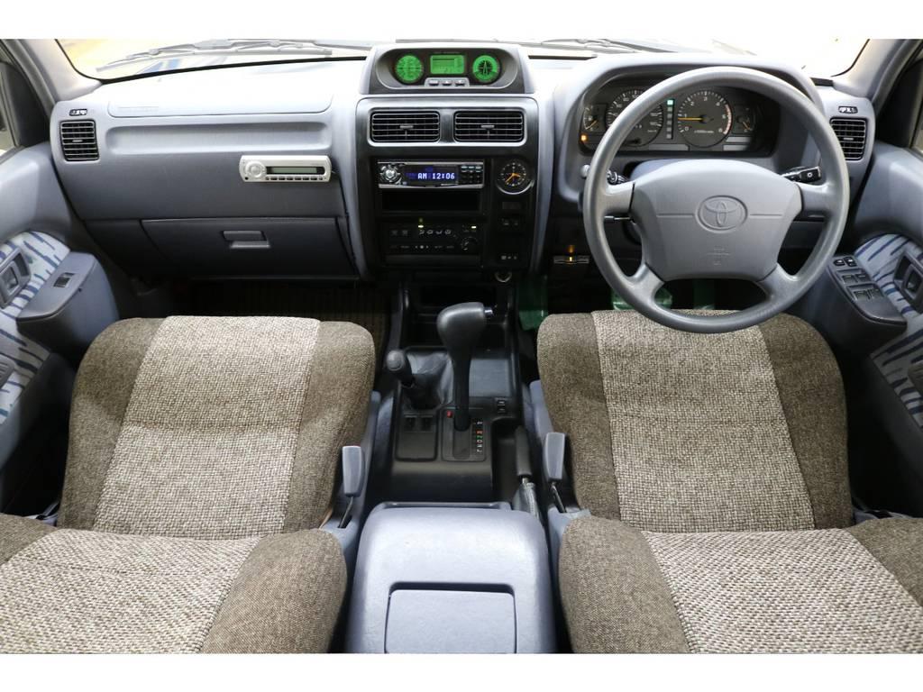 内装は当店にてルームクリーニング済みとなりますので綺麗な状態です♪ | トヨタ ランドクルーザープラド 3.0 TX ディーゼルターボ 4WD