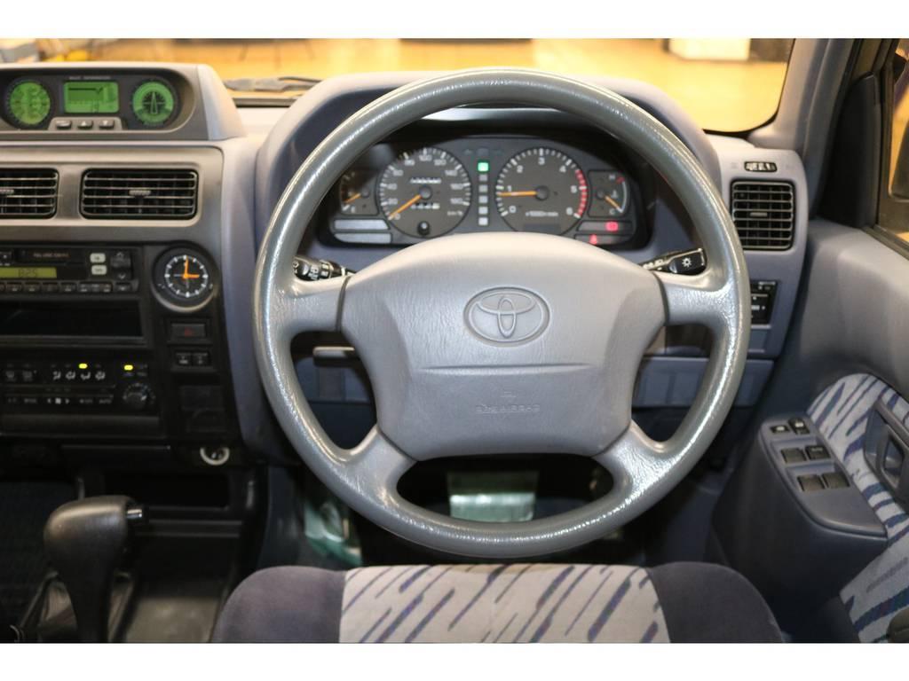 運転席/助手席エアバック付き♪ | トヨタ ランドクルーザープラド 3.0 TX ディーゼルターボ 4WD