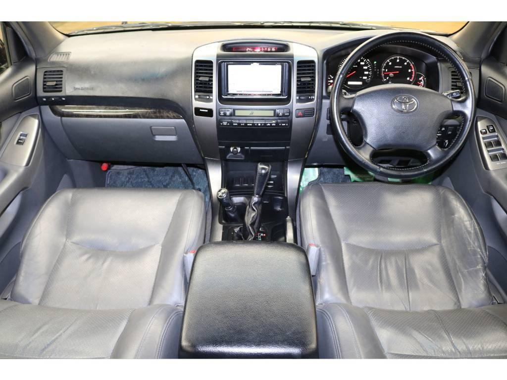 内装は特別仕様のグレーカラー☆ | トヨタ ランドクルーザープラド 3.0 TX リミテッド 60thスペシャルエディション ディーゼルターボ 4WD