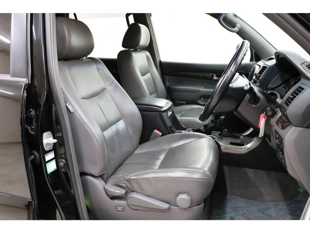 オプションの本革シート☆ | トヨタ ランドクルーザープラド 3.0 TX リミテッド 60thスペシャルエディション ディーゼルターボ 4WD