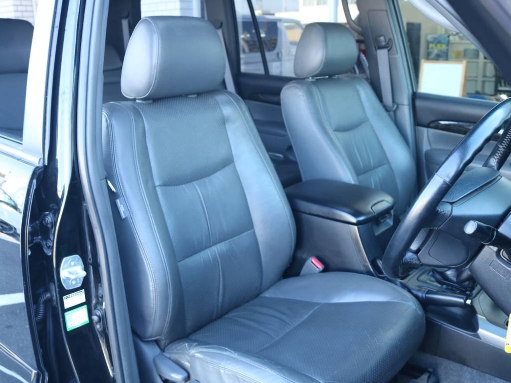 高級感のある本革シート!座り心地もグッド!   トヨタ ランドクルーザープラド 3.0 TX リミテッド 60thスペシャルエディション ディーゼルターボ 4WD