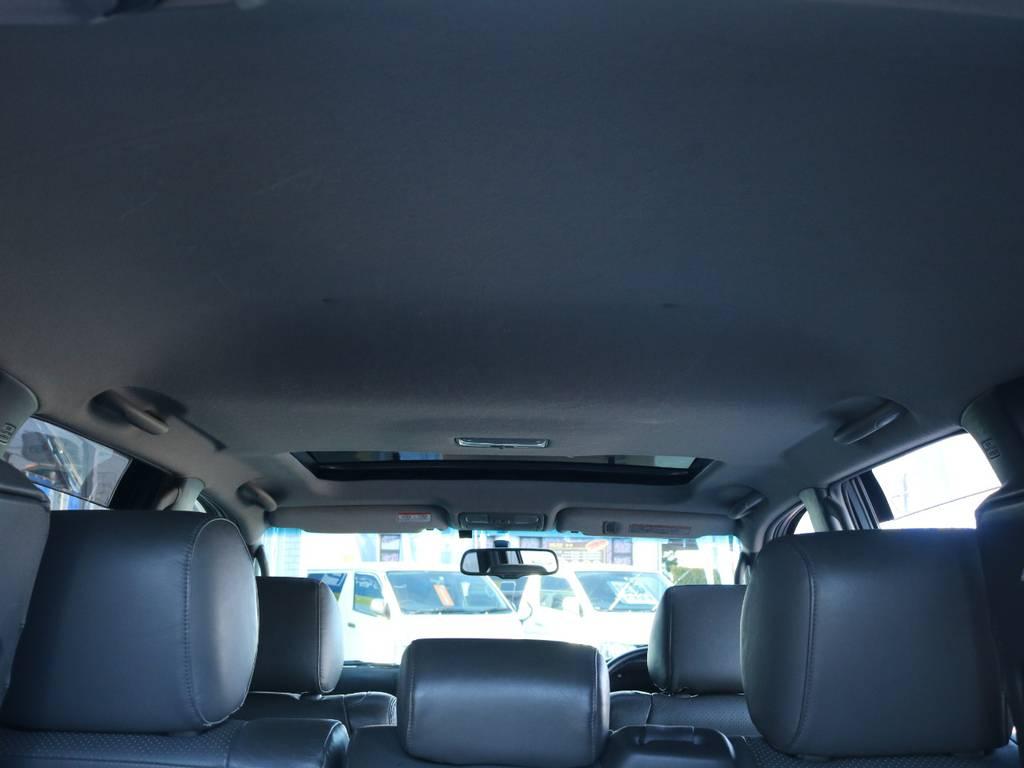 広々した天井!大きなキズやへたりも無く天張りもグッドコンディション!   トヨタ ランドクルーザープラド 3.0 TX リミテッド 60thスペシャルエディション ディーゼルターボ 4WD