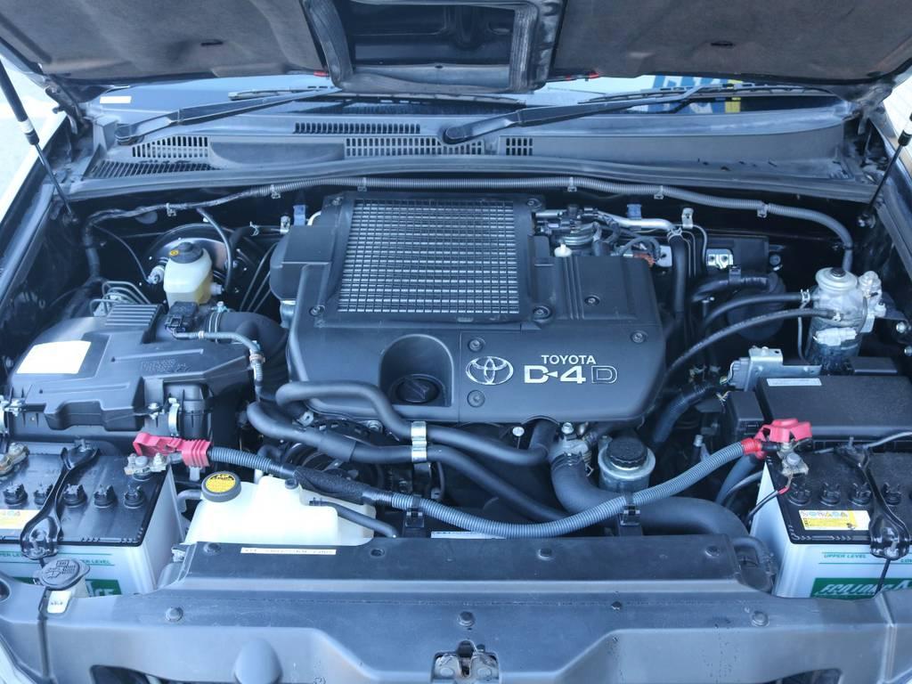 パワフルな3.0Lディーゼルターボエンジン搭載!快適な運転を実現してくれます!