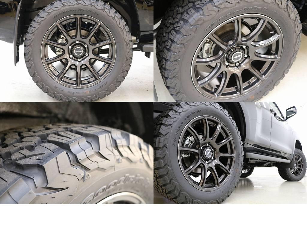 BFグットリッチATタイヤ×レイズ20インチAW☆ | トヨタ ランドクルーザープラド 2.8 TX ディーゼルターボ 4WD 新車未登録 7人乗り