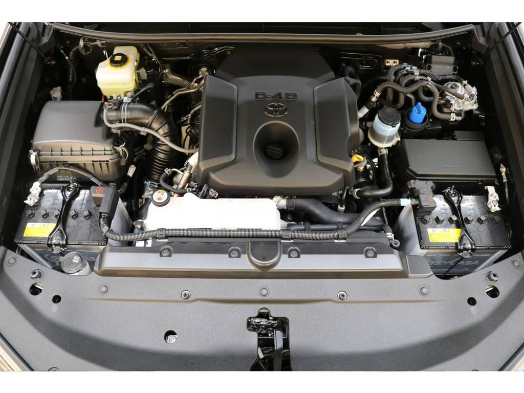エンジンルームになります♪ | トヨタ ランドクルーザープラド 2.8 TX ディーゼルターボ 4WD 新車未登録 7人乗り