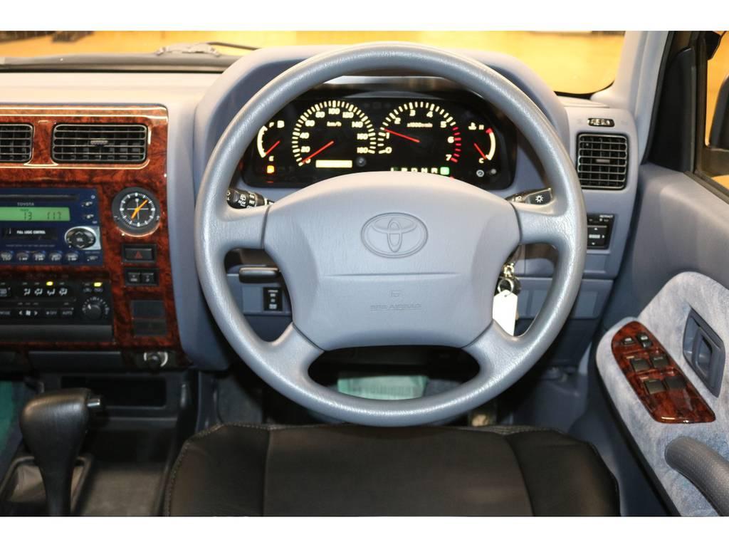 運転席/助手席エアバック付き♪ | トヨタ ランドクルーザープラド 2.7 TX リミテッド 4WD