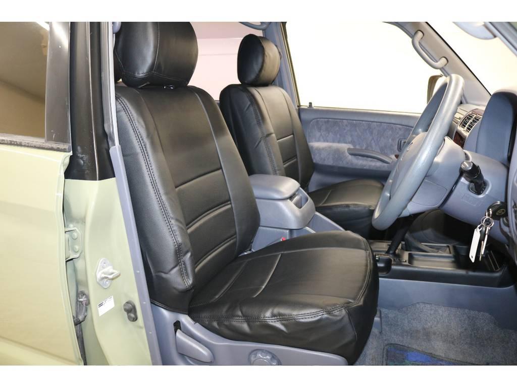 新品シートカバー装着済みです♪ | トヨタ ランドクルーザープラド 2.7 TX リミテッド 4WD