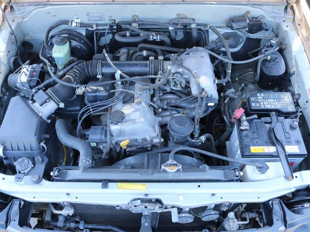 2.7Lガソリンエンジンで耐久性も抜群! | トヨタ ランドクルーザープラド 2.7 TX 4WD 丸目 ナロー