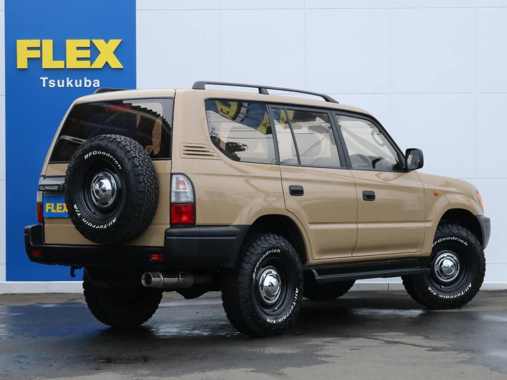 DEANクロスカントリーホイールでおしゃれにカスタムされております! | トヨタ ランドクルーザープラド 2.7 TX 4WD 丸目 ナロー