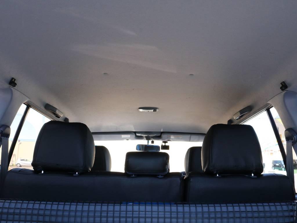 広々した天井!大きなキズやへたりも無く天張りもグッドコンディション! | トヨタ ランドクルーザープラド 2.7 TX 4WD 丸目 ナロー