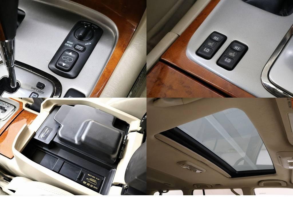AHC装備☆シートヒーター☆クールBOX☆サンルーフ☆   トヨタ ランドクルーザーシグナス 4.7 4WD