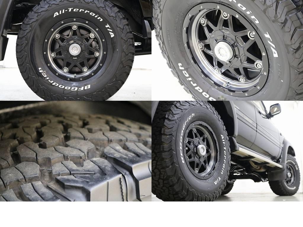 BFグットリッチATタイヤ×新品MGライカン16インチAW☆ | トヨタ ランドクルーザー80 4.2 VXリミテッド ディーゼルターボ 4WD