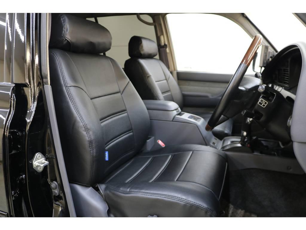 新品シートカバー装着済みです♪ | トヨタ ランドクルーザー80 4.2 VXリミテッド ディーゼルターボ 4WD