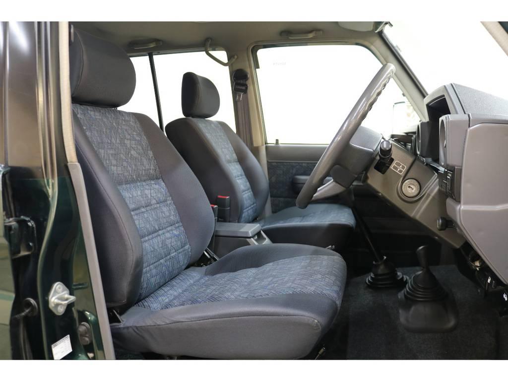 運転席/助手席共に綺麗な状態が保たれております♪ | トヨタ ランドクルーザー70 4.2 ZX ディーゼル 4WD