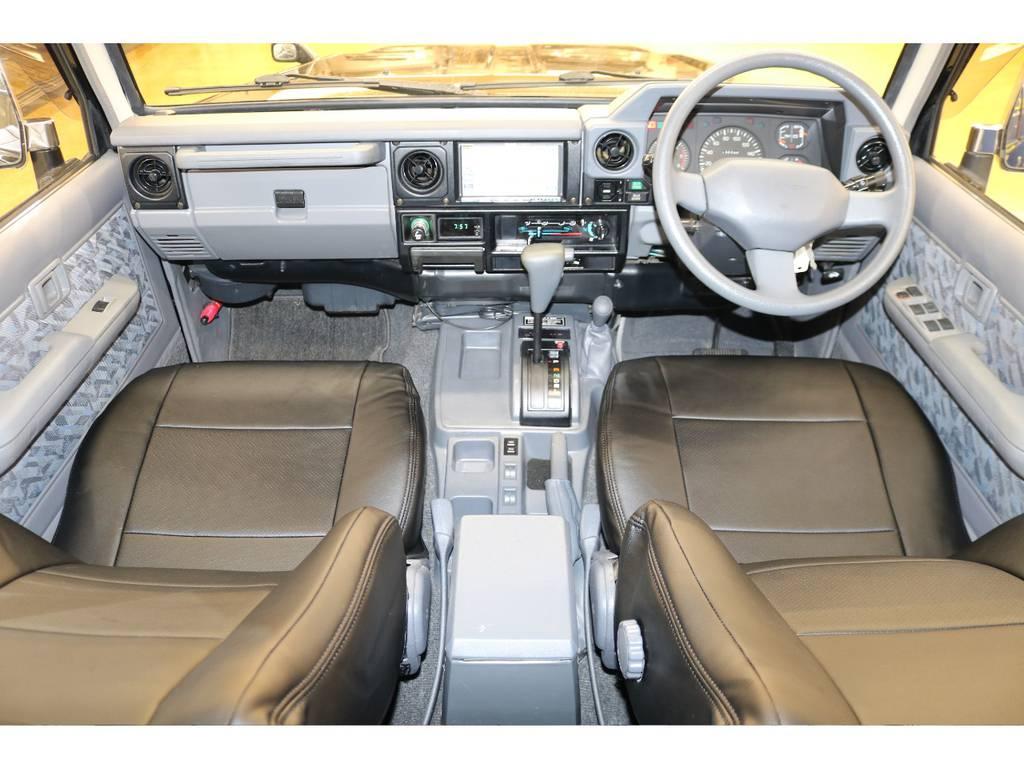 内装は当店にてルームクリーニング済みとなりますので綺麗な状態です♪   トヨタ ランドクルーザー70 4.2 ZX ディーゼル 4WD