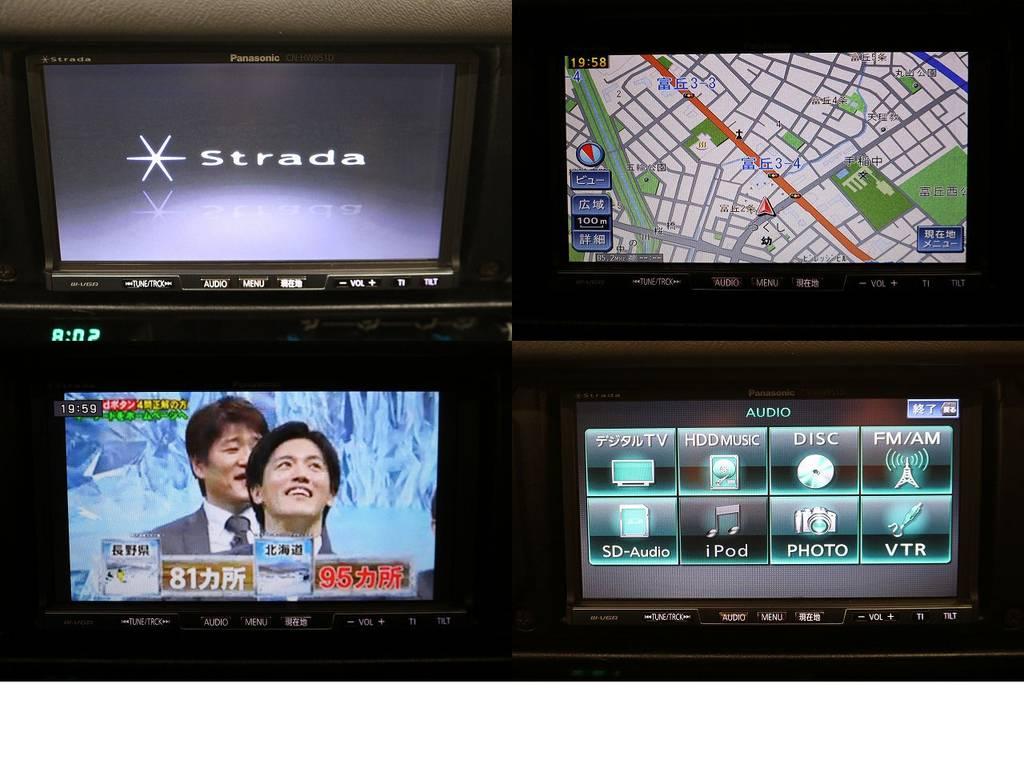 ストラーダHDDナビ(フルセグ対応)☆   トヨタ ランドクルーザー70 4.2 ZX ディーゼル 4WD