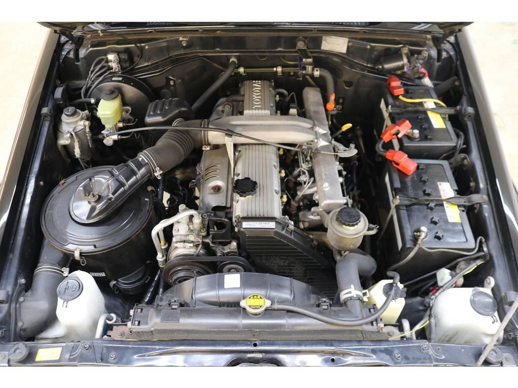 エンジンルームになります☆   トヨタ ランドクルーザー70 4.2 ZX ディーゼル 4WD