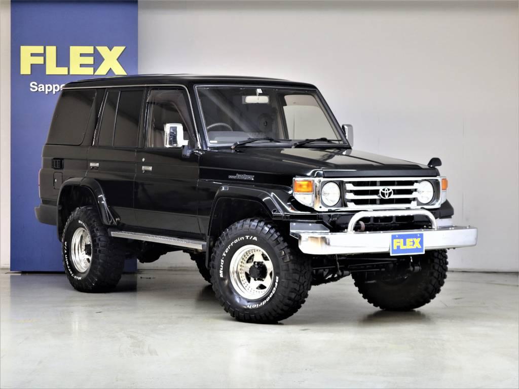公認リフトUP☆BFグットリッチMTタイヤ☆ザイジックス16インチAW☆   トヨタ ランドクルーザー70 4.2 ZX ディーゼル 4WD