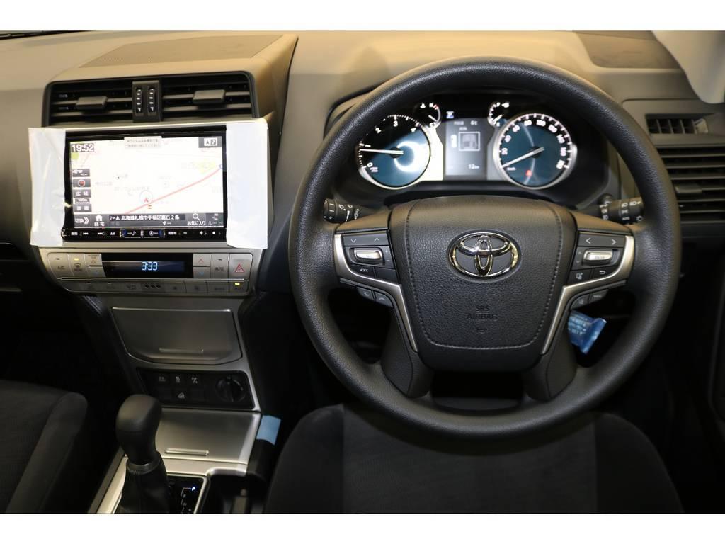 ステアリングスイッチ付き♪ | トヨタ ランドクルーザープラド 2.8 TX ディーゼルターボ 4WD 5人