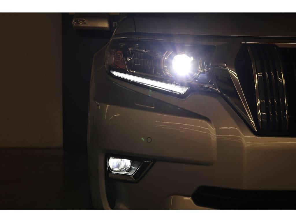 LEDヘッドランプ&LEDフォグランプ☆ | トヨタ ランドクルーザープラド 2.8 TX ディーゼルターボ 4WD 5人