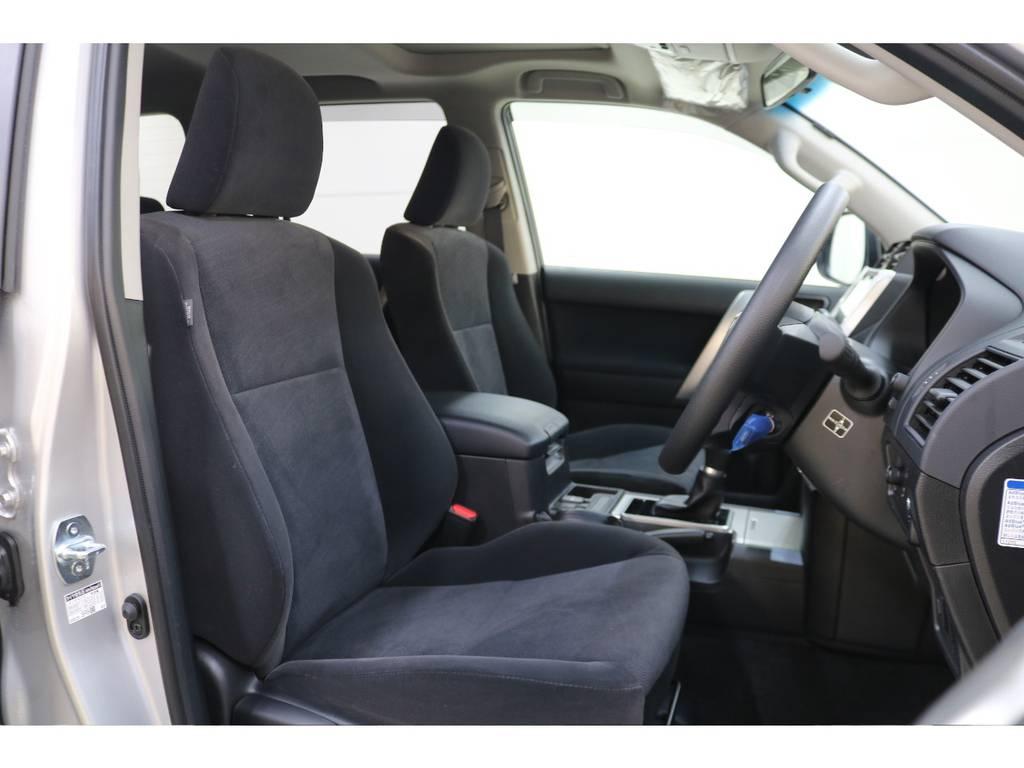 座り心地の良いモケットシート☆ | トヨタ ランドクルーザープラド 2.8 TX ディーゼルターボ 4WD 5人