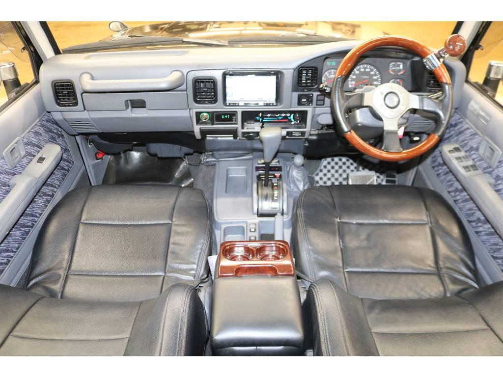 内装は当店にてルームクリーニング済みとなりますので綺麗な状態です♪ | トヨタ ランドクルーザープラド 3.0 SXワイド ディーゼルターボ 4WD