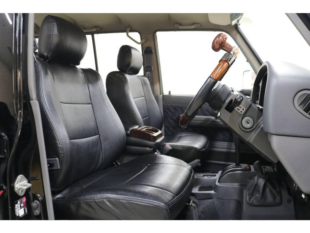 シートカバー装着済みです♪ | トヨタ ランドクルーザープラド 3.0 SXワイド ディーゼルターボ 4WD