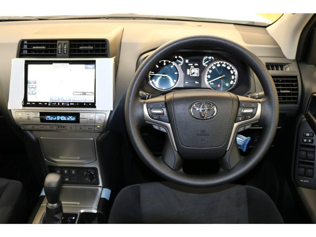 ステアリングスイッチ付き♪   トヨタ ランドクルーザープラド 2.8 TX ディーゼルターボ 4WD 7人