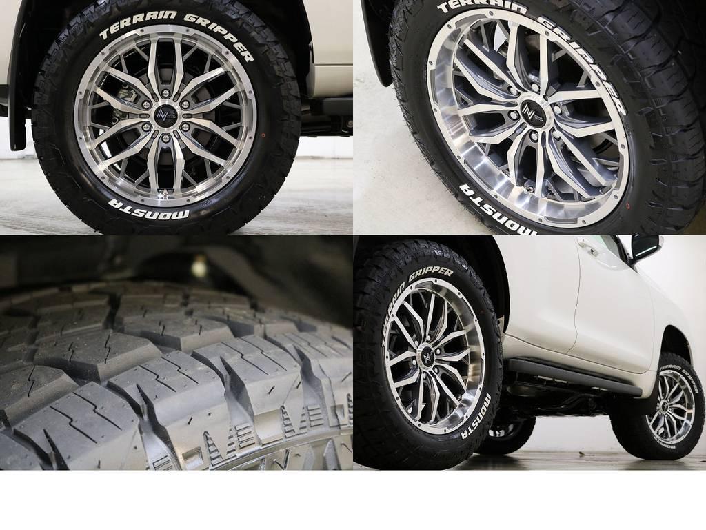 MONSTAテレーングリッパー×ガジェット20インチAW☆   トヨタ ランドクルーザープラド 2.8 TX ディーゼルターボ 4WD 7人