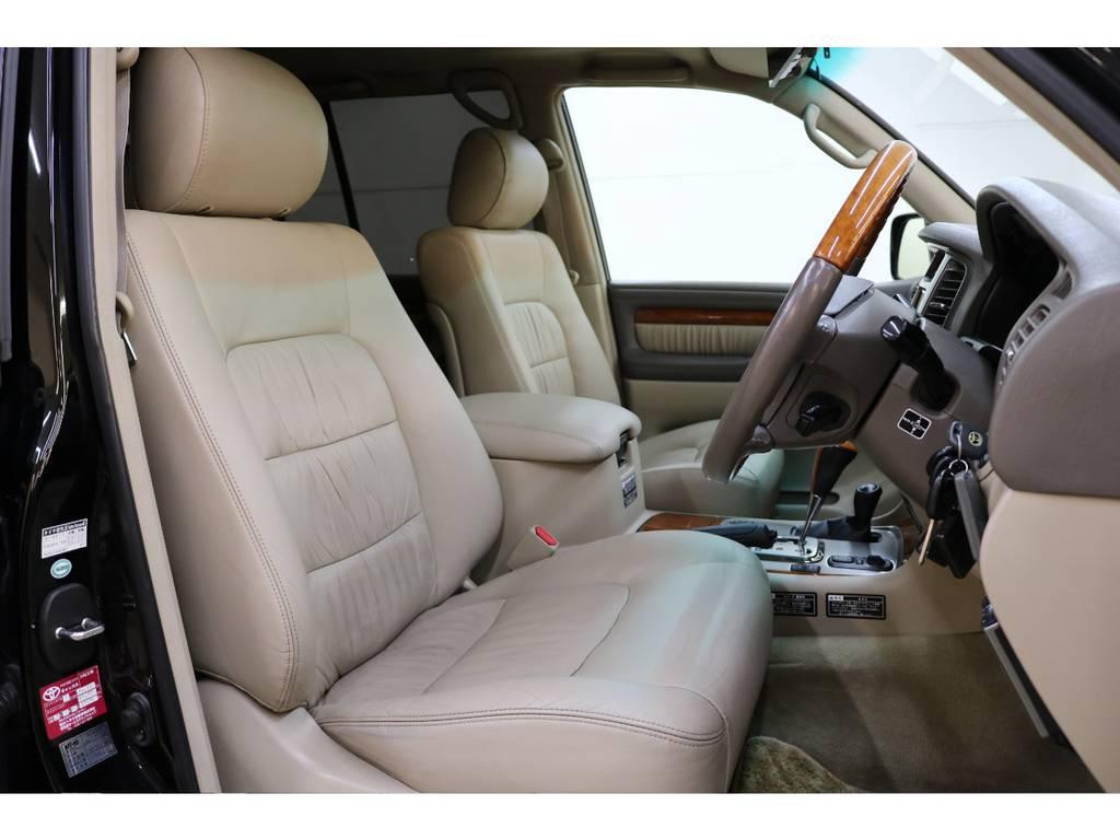運転席/助手席本革パワーシート☆シートヒーター付き♪ | トヨタ ランドクルーザーシグナス 4.7 4WD