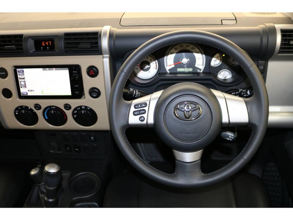 ステアリングスイッチ付き♪ | トヨタ FJクルーザー 4.0 カラーパッケージ 4WD トレイル仕様