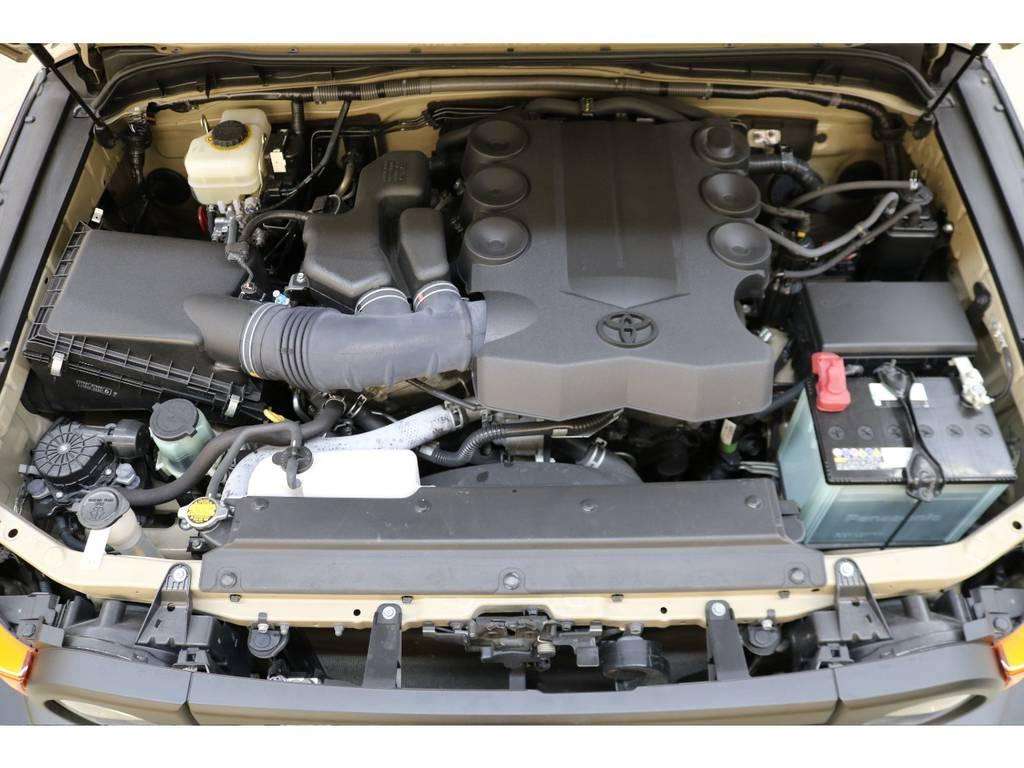 エンジンルームになります☆ | トヨタ FJクルーザー 4.0 カラーパッケージ 4WD トレイル仕様