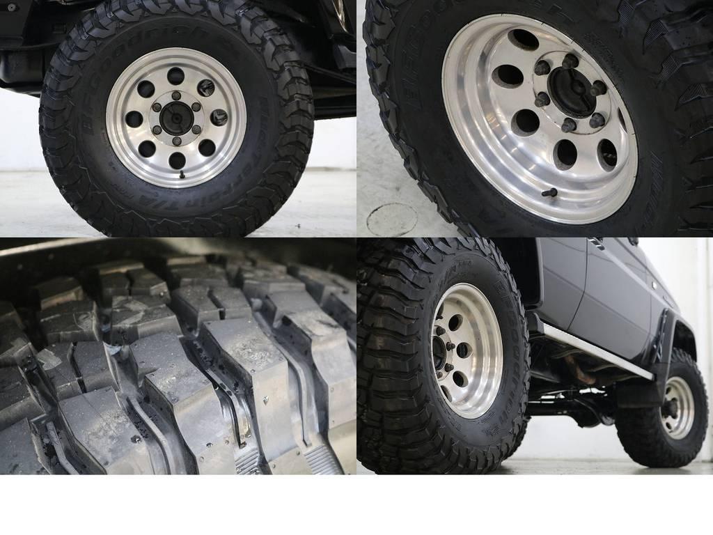 BFグットリッチKM3タイヤ×社外15インチAW☆ | トヨタ ランドクルーザープラド 3.0 EXワイド ディーゼルターボ 4WD
