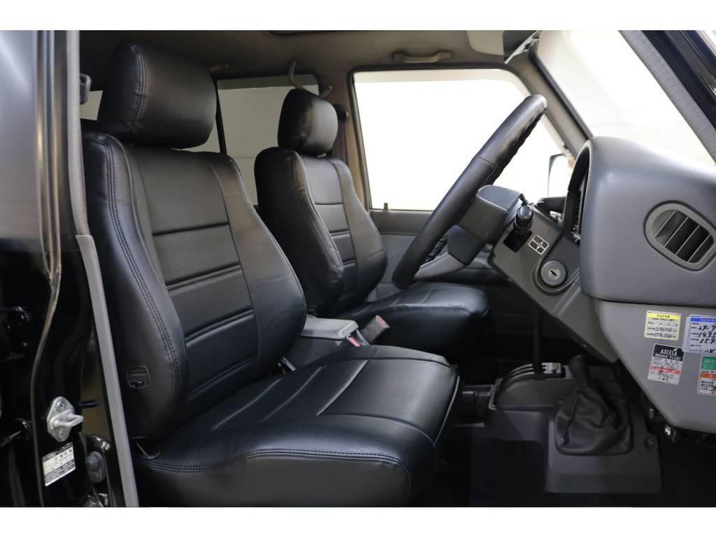 新品シートカバー装着済みです♪ | トヨタ ランドクルーザープラド 3.0 EXワイド ディーゼルターボ 4WD
