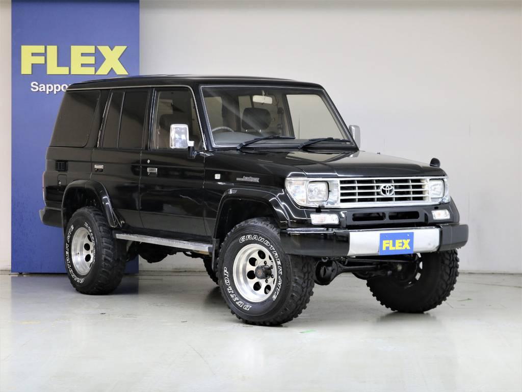 フルメッキグリル☆クリスタルヘッドライト☆LEDテールランプ☆グラントレックMT2タイヤ☆ | トヨタ ランドクルーザープラド 3.0 EXワイド ディーゼルターボ 4WD