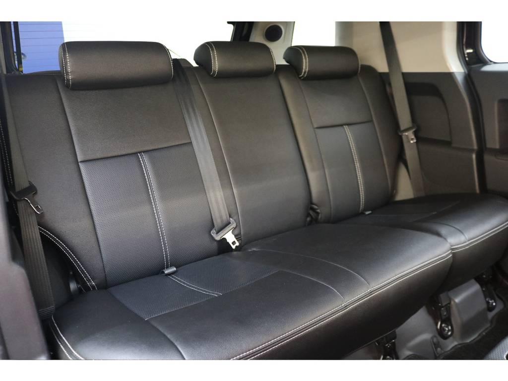 後部座席はシートカバー装着済みです♪