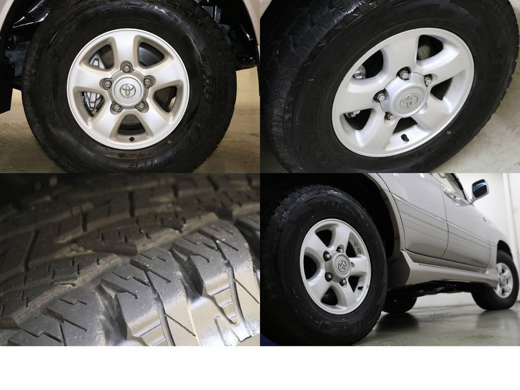 純正16インチアルミホイール☆ | トヨタ ランドクルーザー100 4.2 VXリミテッド ディーゼルターボ 4WD