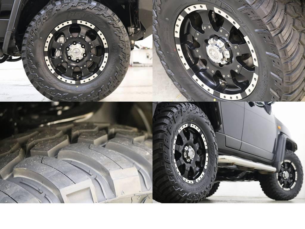 新品AMPマッドタイヤ×ゴライアス17インチAW☆ | トヨタ FJクルーザー 4.0 ブラックカラーパッケージ 4WD
