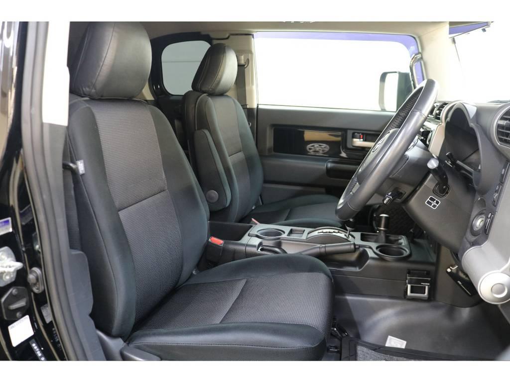 運転席/助手席ともに綺麗な状態が保たれております♪ | トヨタ FJクルーザー 4.0 ブラックカラーパッケージ 4WD