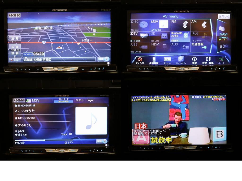 カロッツェリアサイバーナビ(フルセグ、Bluetooth対応)☆ | トヨタ ランドクルーザー80 4.2 VXリミテッド ディーゼルターボ 4WD