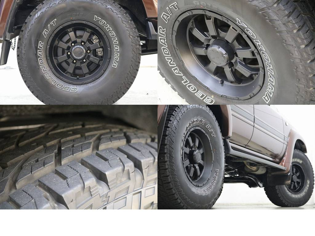 MKW16インチAWマッドブラック塗装済み☆ジオランダーATタイヤ☆ | トヨタ ランドクルーザー80 4.2 VXリミテッド ディーゼルターボ 4WD