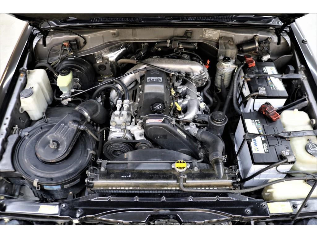 耐久性に優れた1KZエンジン搭載☆軽やかな走りだしが特徴的です♪